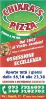 Menu CHIARA'S PIZZA