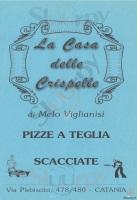 Foto del menù di LA CASA DELLE CRISPELLE
