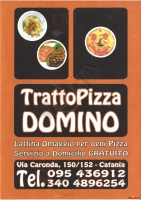 Menu TRATTOPIZZA DOMINO