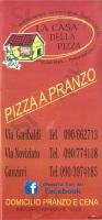 Menu LA CASA DELLA PIZZA - Messina, Via Casazza