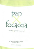 Menu PAN X FOCACCIA