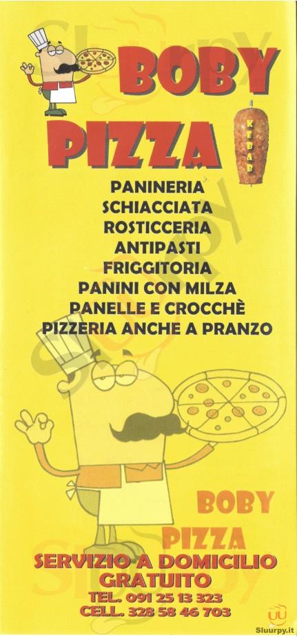 BOBY PIZZA Palermo menù 1 pagina