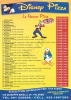 Menu DISNEY PIZZA