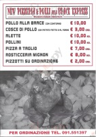 Menu NEW PIZZERIA E POLLI ALLA BRACE ESPRESS