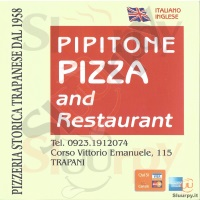 Menu PIPITONE PIZZA AND RESTAURANT