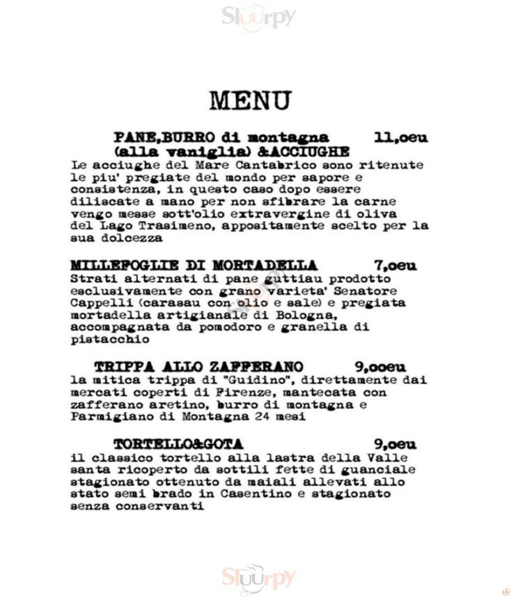 VINERIA AL 10 Arezzo menù 1 pagina