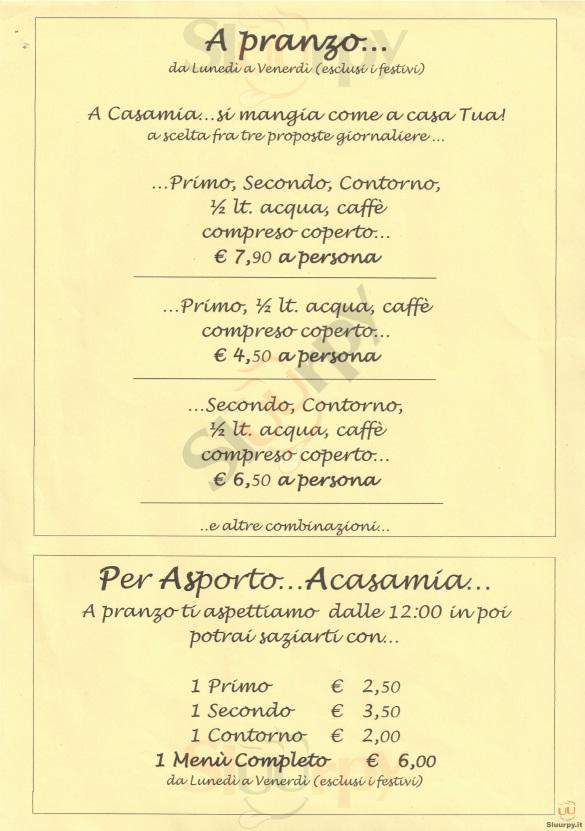 Pizza e Carbone Acasamia  Firenze menù 1 pagina