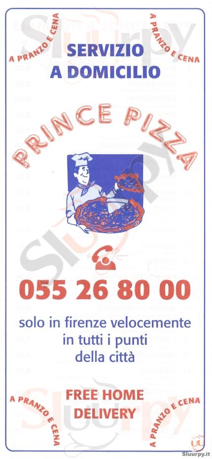 PRINCE PIZZA Firenze menù 1 pagina