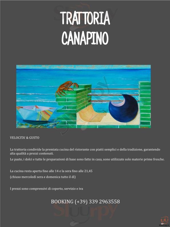 CANAPINO Grosseto menù 1 pagina