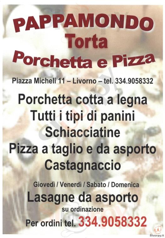 PAPPAMONDO Livorno menù 1 pagina