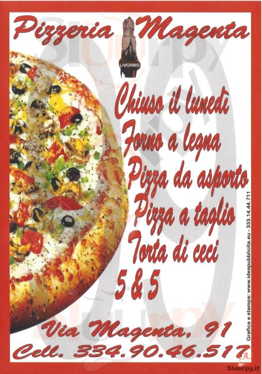 MAGENTA Livorno menù 1 pagina