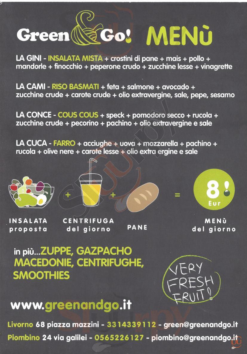 GREEN & GO Piombino menù 1 pagina