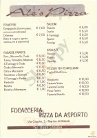 Menu ALES PIZZA