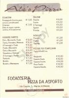 Menu ALES PIZZA