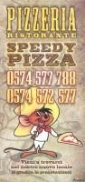 Menu SPEEDY PIZZA