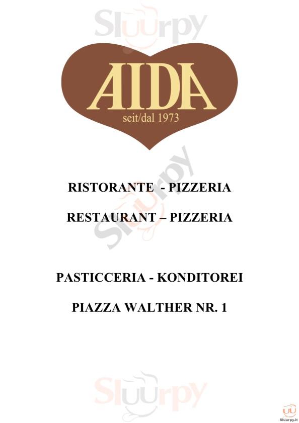 AIDA Bolzano menù 1 pagina