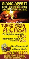 Menu TURBO PIZZA