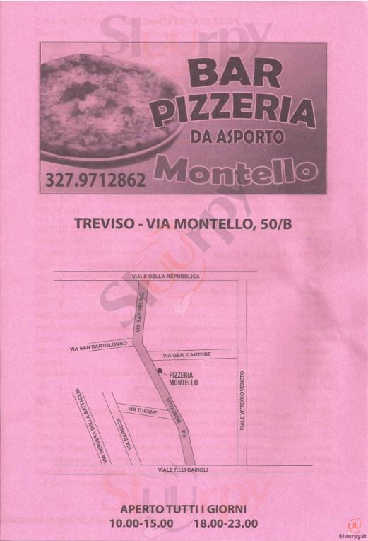 MONTELLO Treviso menù 1 pagina