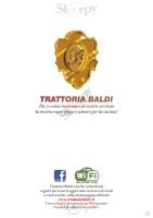 Menu TRATTORIA BALDI
