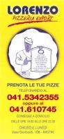 Menu LORENZO PIZZA EXPORT