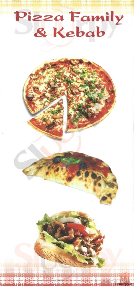 PIZZA FAMILY E KEBAB Venezia menù 1 pagina
