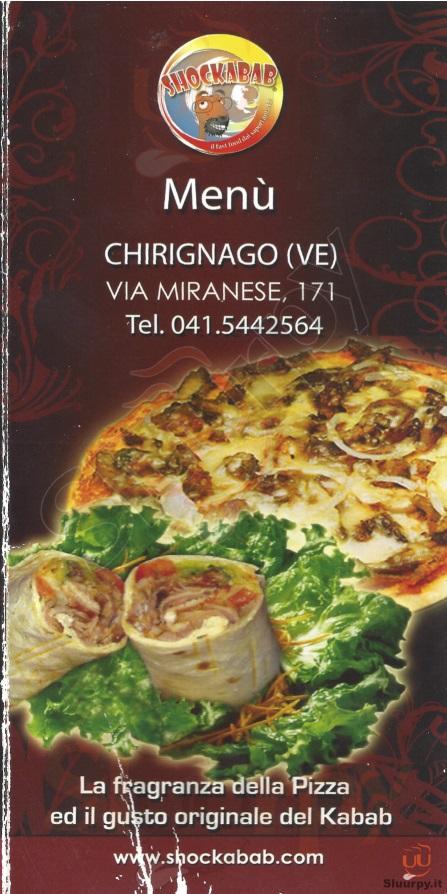 SHOCKABAB Venezia menù 1 pagina