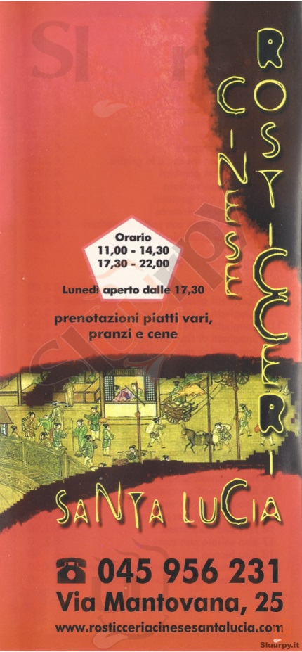 SANTA LUCIA Verona menù 1 pagina