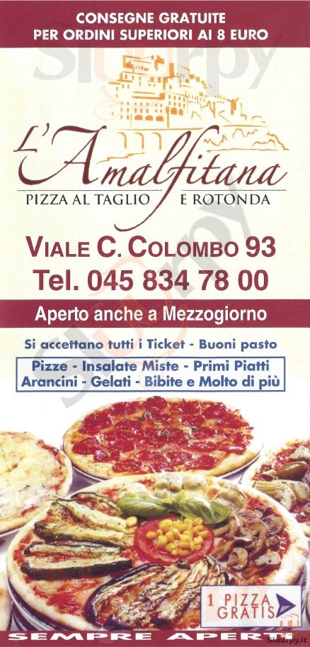 L'AMALFITANA Verona menù 1 pagina